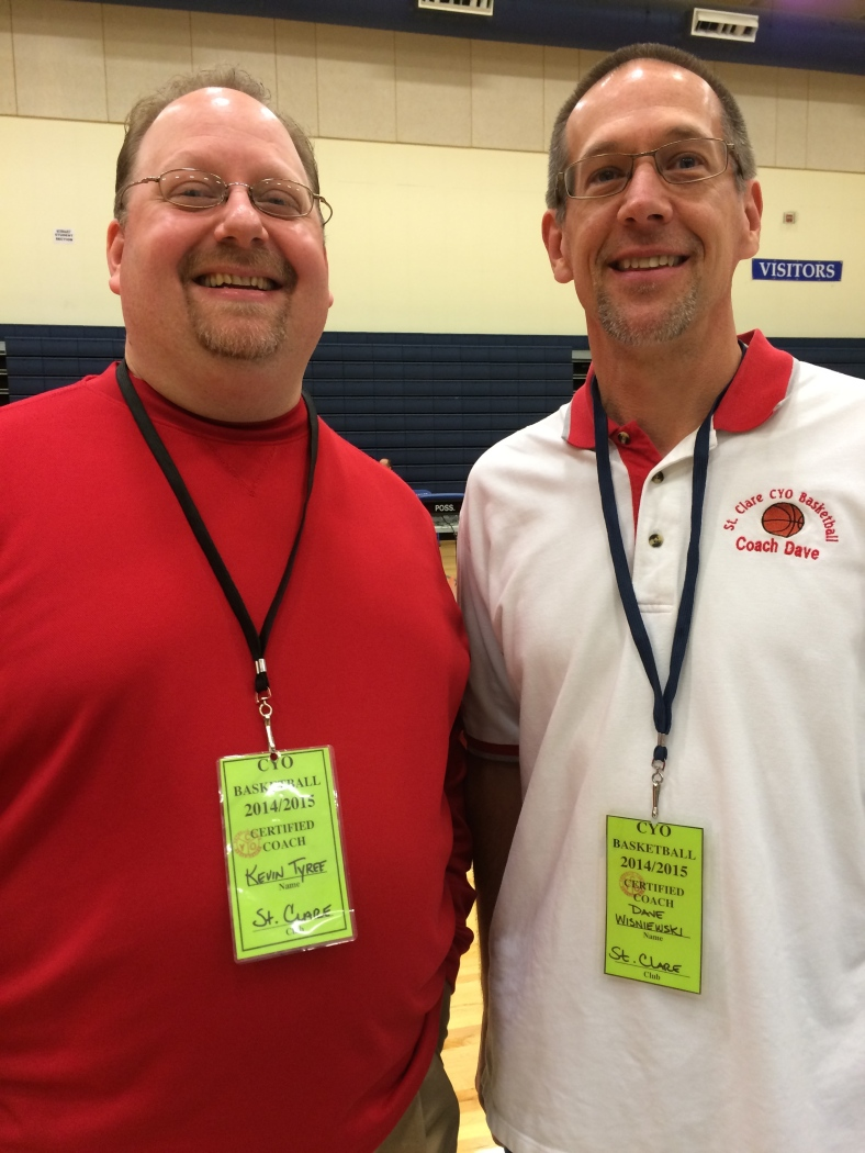 St. Clare coaches, Kevin Tyree and Dave Wisniewski