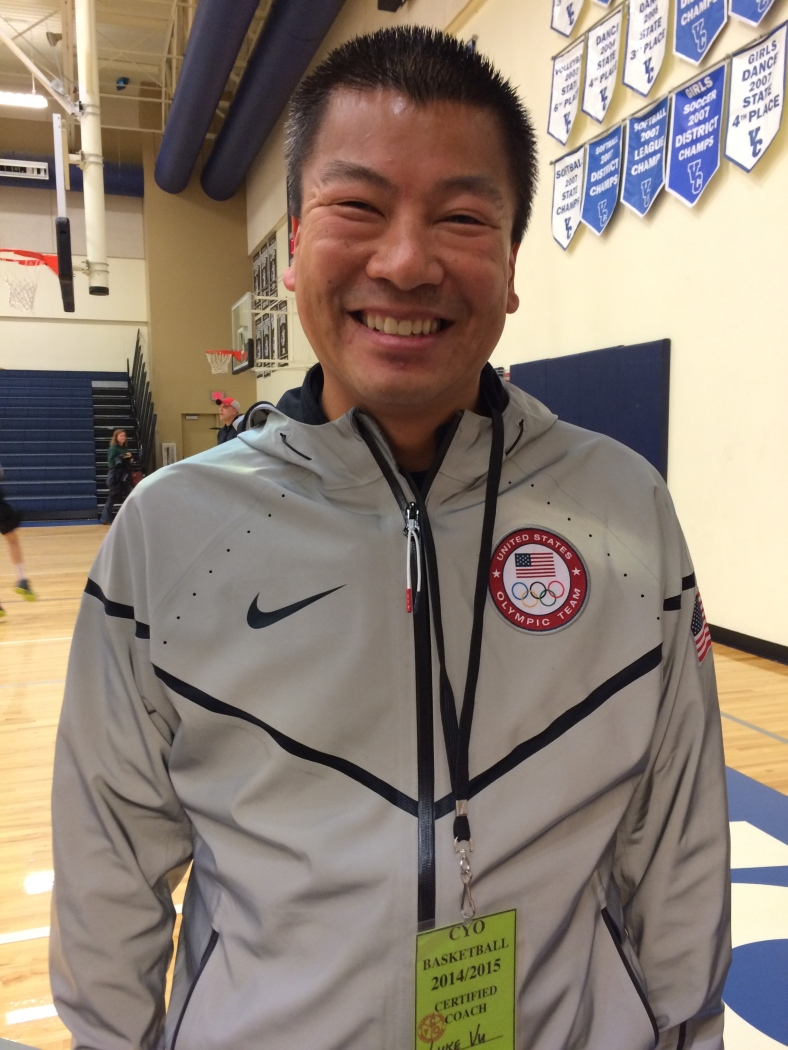 Luke Vu from St. Pius X coaches several teams in the CYO program.
