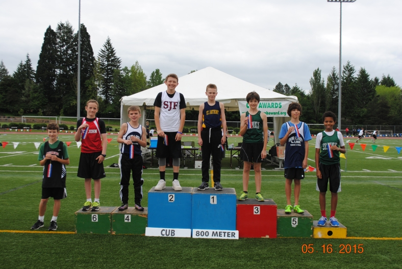 Cub Boys 800 Meter Run Winners CYO Meet of Champions.