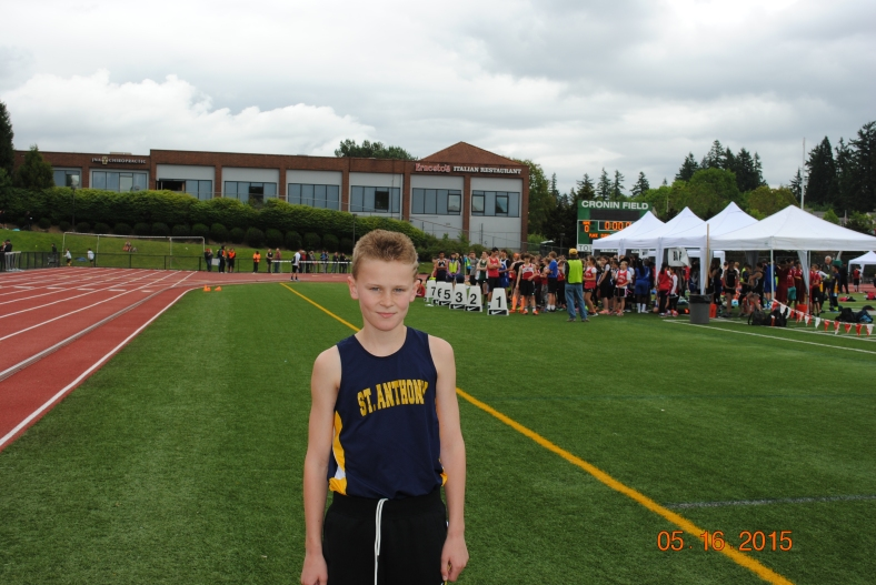 Jeffery Rogers wins the cub boys 800 meter run at the CYO Meet of Champions May 16, 2015.