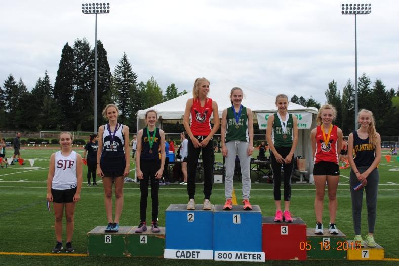 Cadet Girls 800 Meter Run winners CYO Meet of Champions 2015