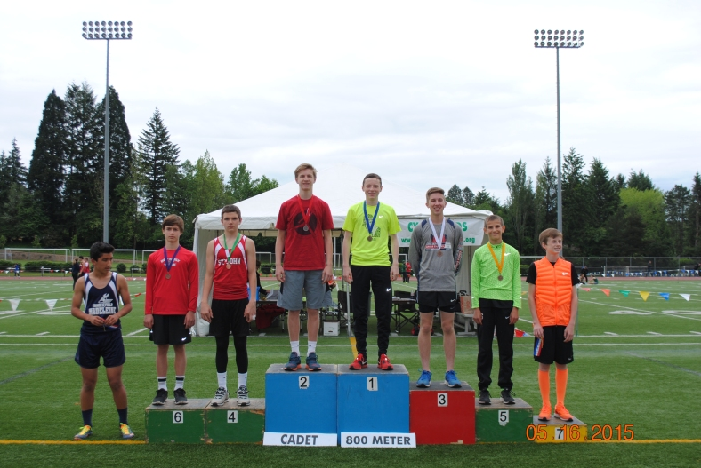 2015 CYO Meet of Champions 800 Meter Run winners