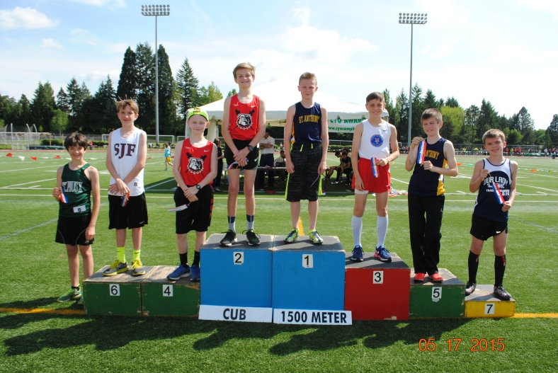 2015 Cub Boys 1500 Meter run winners CYO Meet of Champions