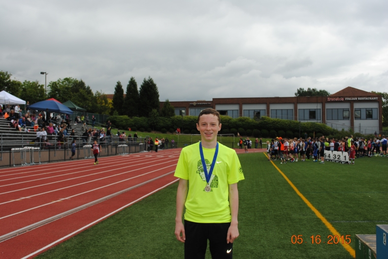 Ethan Reese wins the CYO 800 Meter Run at the Meet of Champions