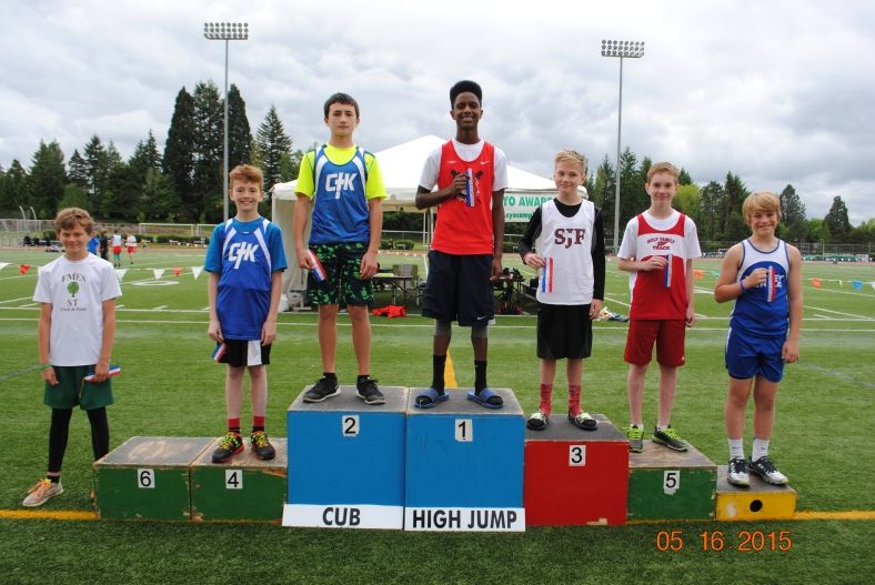 2015 Cub Boys High Jump Winners at the CYO Meet of Champions