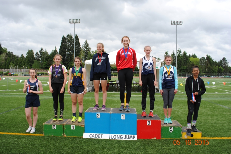 Cadet Girl Long Jump winners 2015 CYO Meet of Champions