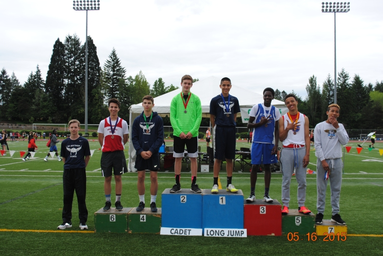 Cadet Boy Long Jump winners 2015 CYO Meet of Champions