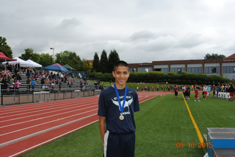 Jayden Holdago 2015 Cadet Boys Long Jump Champion CYO Meet of Champions