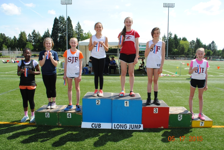 2015 Cub Girl Long Jump Winners CYO Meet of Champions