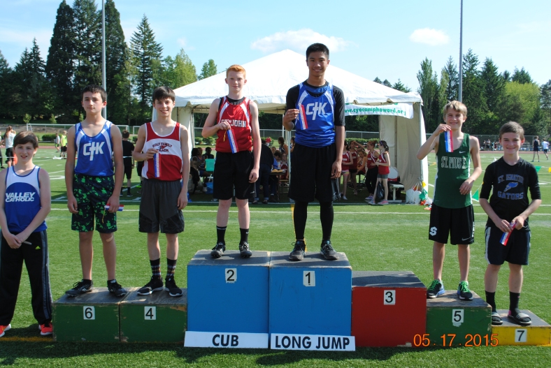 2015 Cub Boy Long Jump winners CYO Meet of Champions