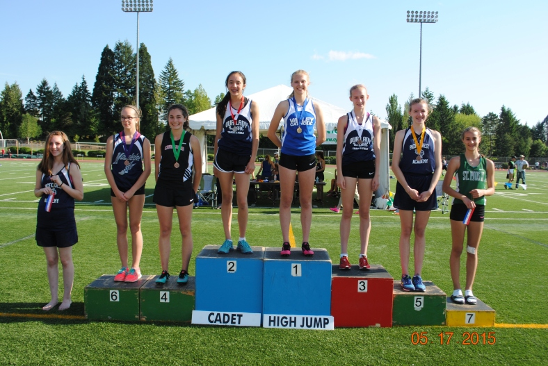 2015 High Jump Winners CYO Meet of Champions Cadet Girls