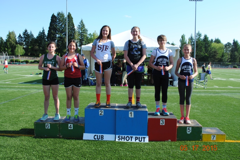 Cub Girls Shot Put winners 2015 CYO Meet of Champions