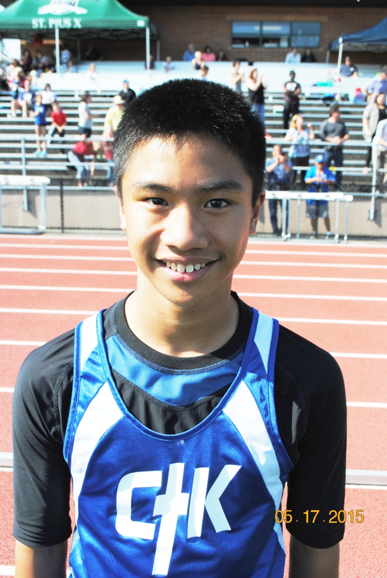 James Menor from Christ the King won the Cub Boys Long Jump Title at the CYO Meet of Champions 2015
