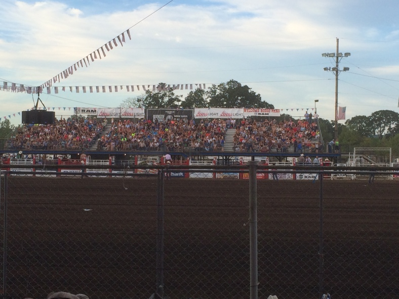 Waiting for the Saddle Bronc Riding!