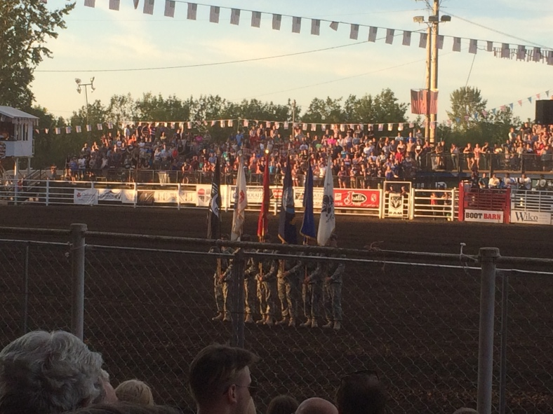 Presentation of the colors and the divisions of the armed forces at the Mollalla Buckaroo