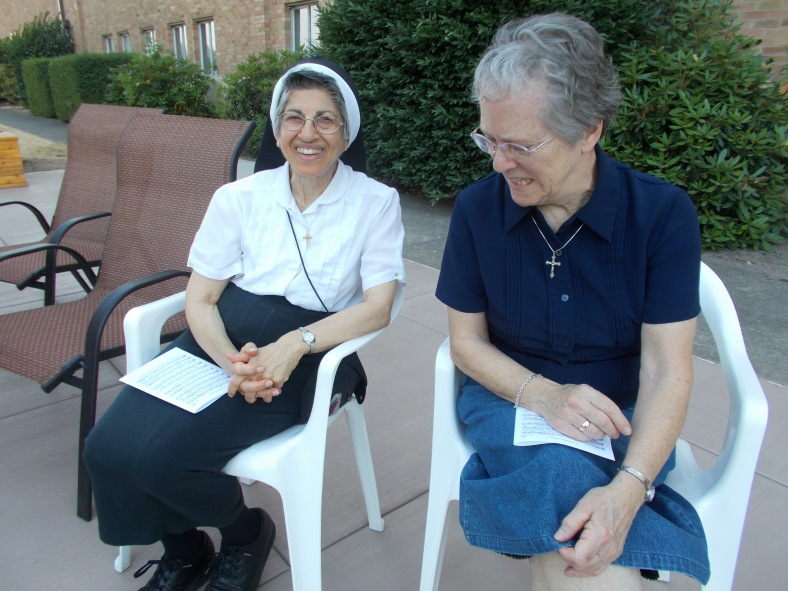 Sr. Marie Bernadette and Sr. Marianne enjoy the activities!