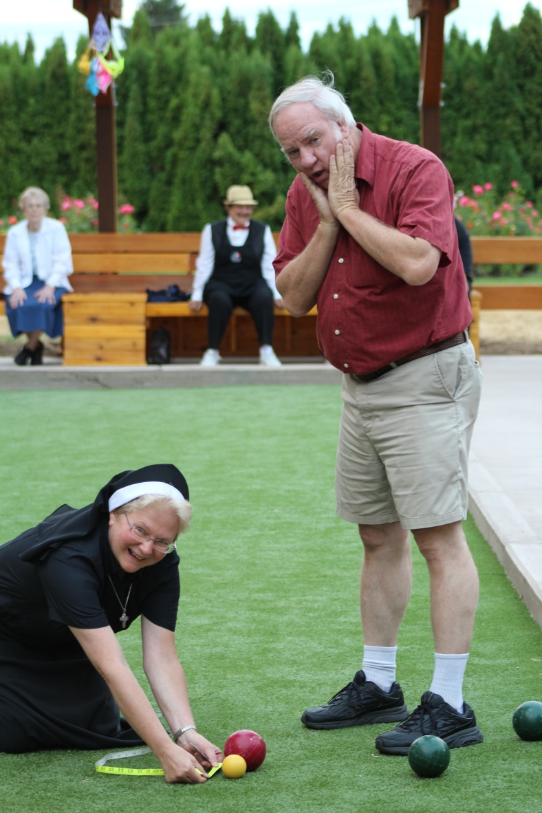 Lee and Sr. Michael Francine ham it up!
