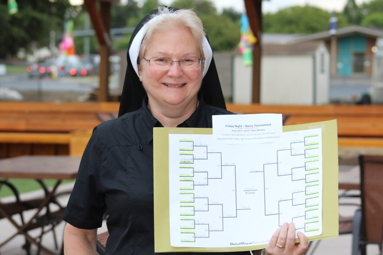 Sister Michael Francine is the big winner with bragging rights!