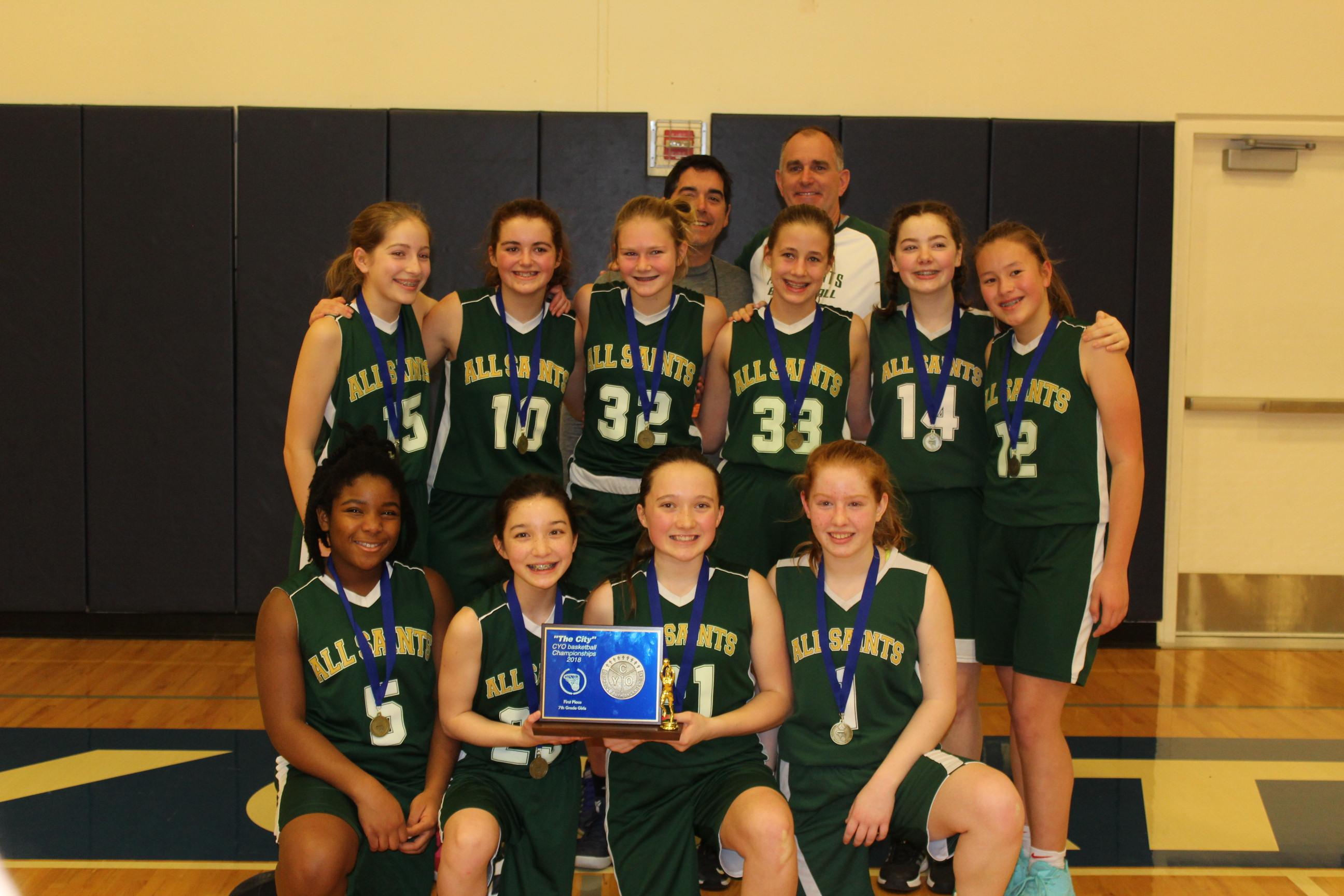 1 All Saints 7th Grade Girls